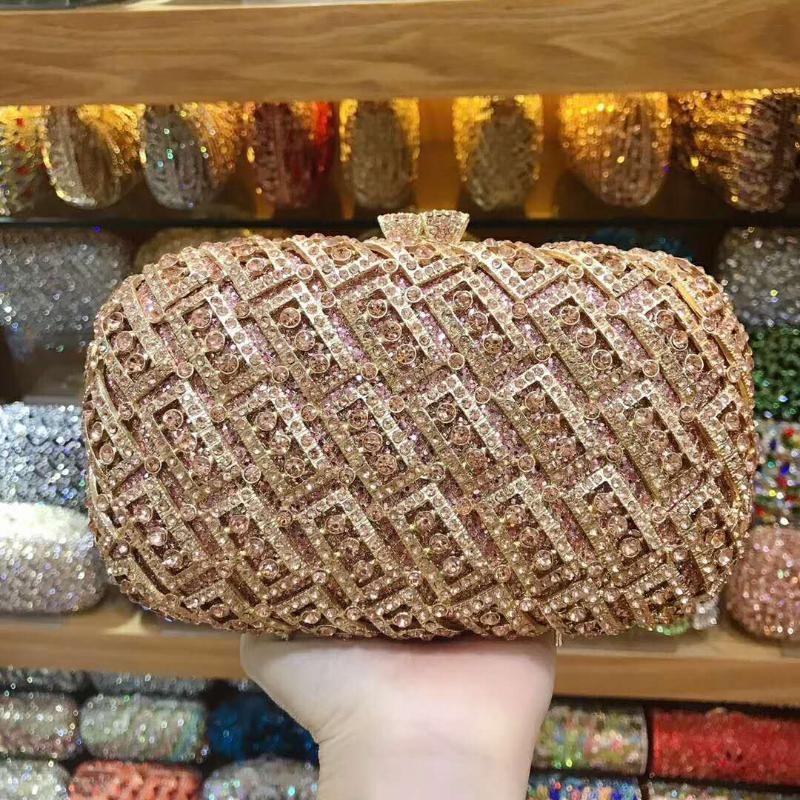 Designer-Xiyuan Frauen Abend Partei Gold-Silber-Handtasche Diamanten Luxus Kupplungen schwarzer Kristall Kupplung Handtasche Braut Hochzeit Partei Geldbörsen