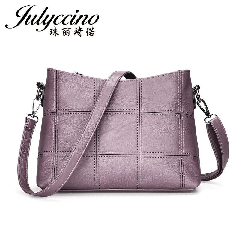 Luglioccino alta femmina di qualità borsa in pelle a spalla messenger piccola donna vintage borse moda borsa a tracolla PKWWN