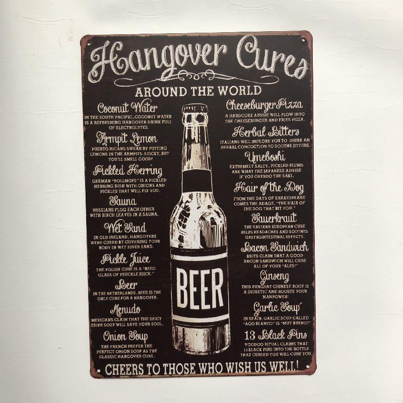 Beer Retro Vintage Metal Tin sign poster for Man Cave Garage shabby chic wall sticker Cafe Bar home decor