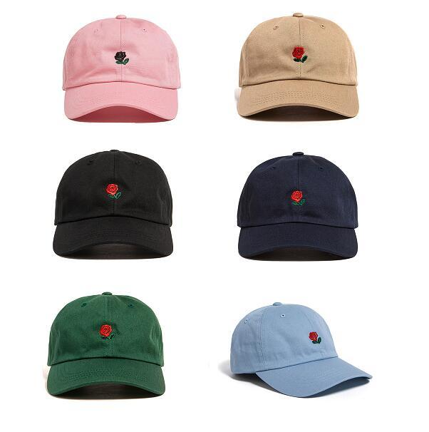 2021 Популярные редкие редкие поп-кепки марки сотен роз ремешок задний шар папа кепки мужчины женщины регулируемые 6 панель гольф Snapback бейсбол