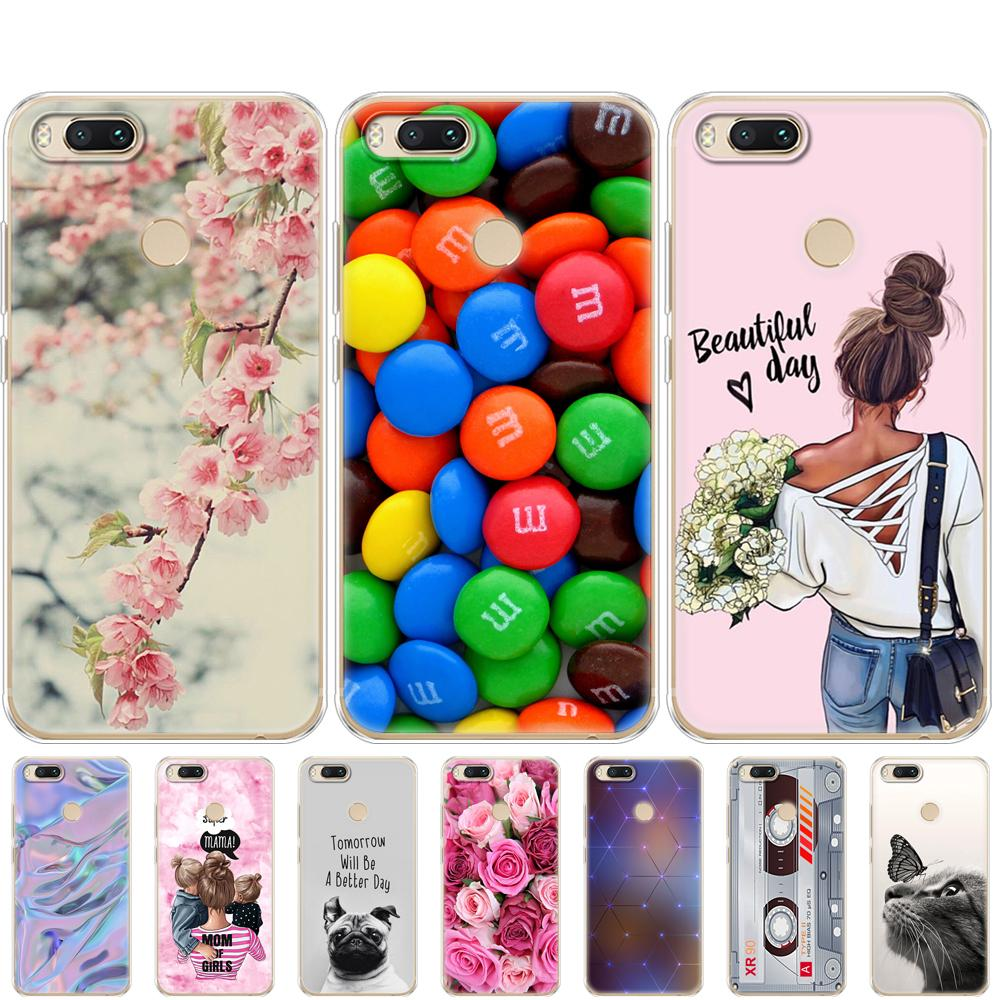 phone Covers For Xiaomi MI A1 Case Full Protection Soft tpu Back Cover Phone Cases For Xiomi MI A1 bumper Coque