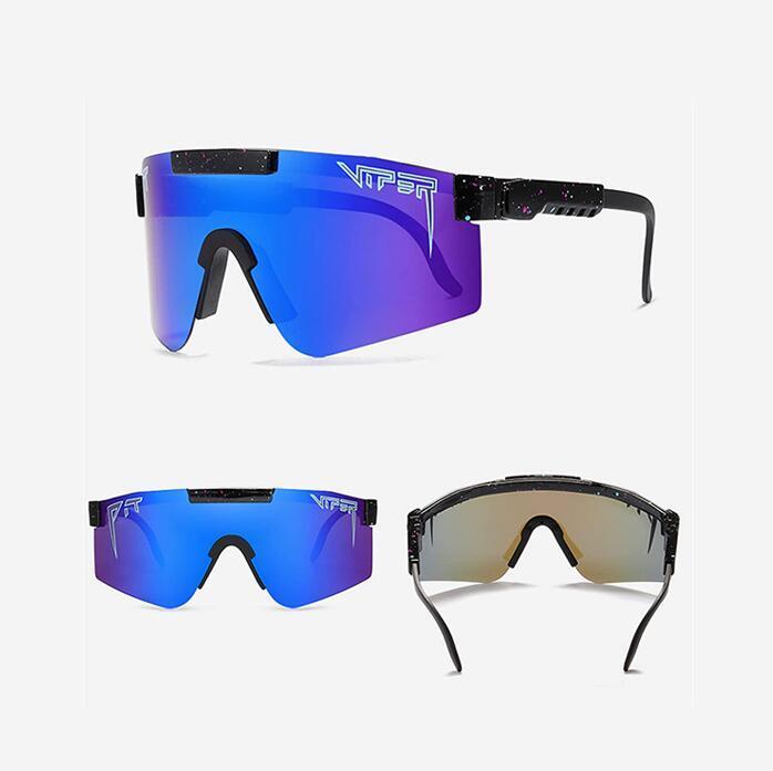 Бренд Солнцезащитные очки Pit Viper Большой кадр Езда Солнцезащитные Очки Красочные Полнозаполненные Реальные пленки Поляризованные Солнцезащитные очки с Корофик