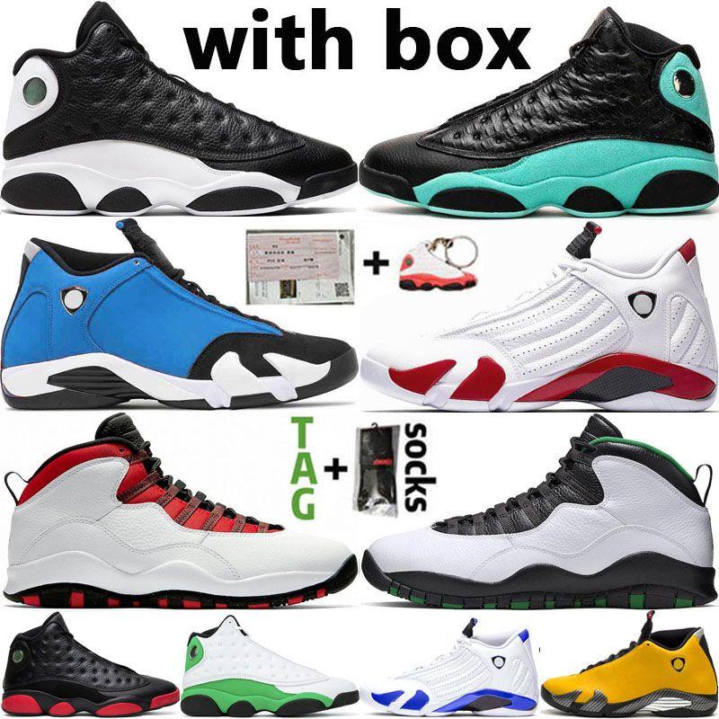 DB Doernbecher 14 14S SUP الأبيض 13 13S عكسي وحصلت الجزيرة الخضراء لعبة كرة السلة للرجال أحذية أجنحة 10 10S مصمم رجالي رياضية أحذية رياضية