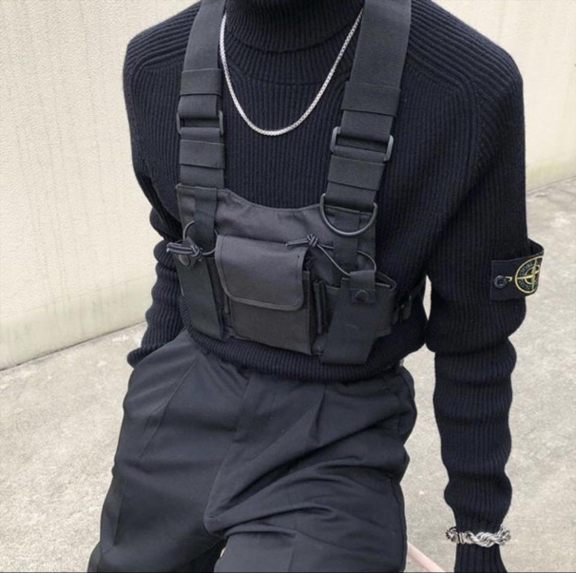 Pacchetto della vita della maglia tattica militare di nylon della maglia della cassa rig Confezione sacchetto di custodia per armi tattica cablaggio walkie talkie per la radio bidirezionale