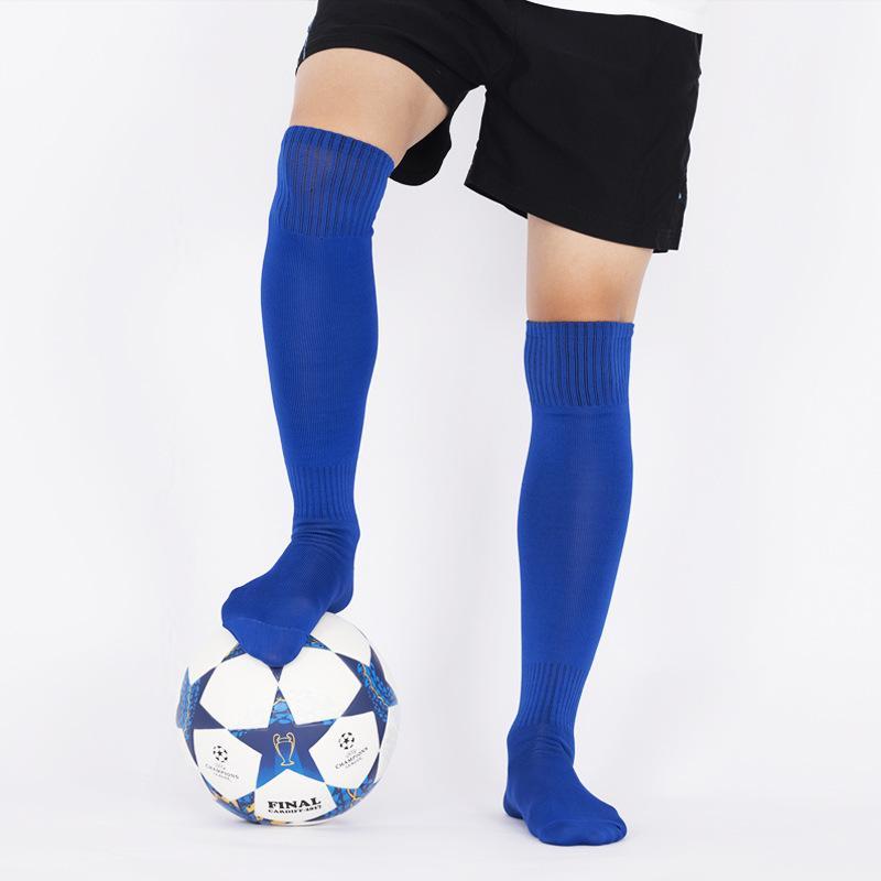 2 أزواج رجل كرة القدم جوارب فوق الركبة منذ فترة طويلة الرياضة الجوارب أسود أبيض اللون الأزرق تنفس رقيقة تشغيل جوارب رياضية 201027