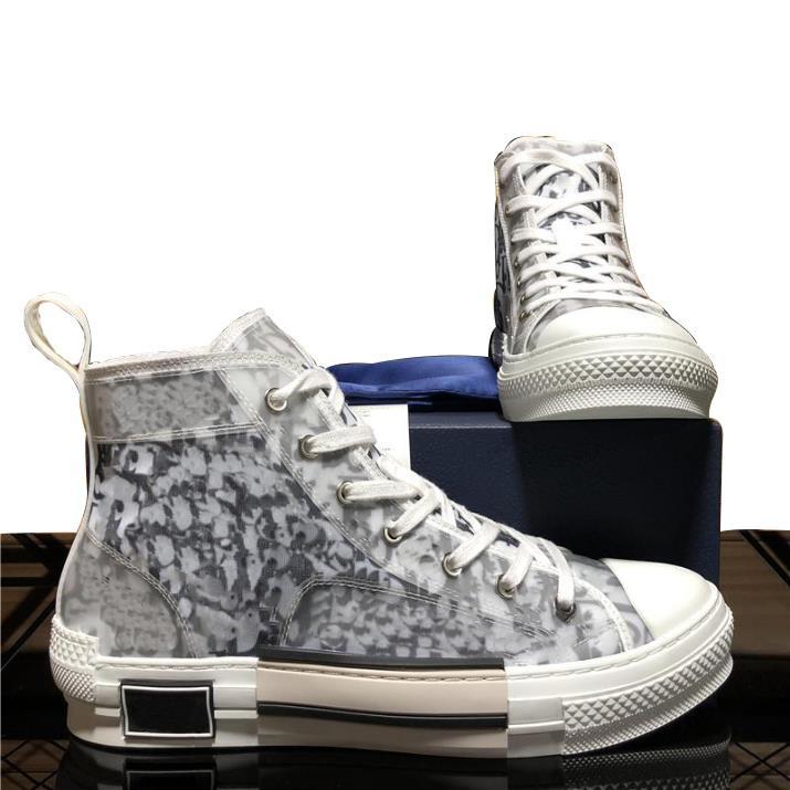 Calidad Real Cuero Oblique Hombre Zapatos de lona Hombre Sneaker Mujer Zapatos de moda Cuero de cuero Lace Up blanco con Negro Home011 01