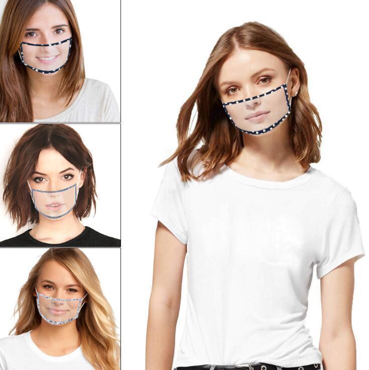 Kid Хлопок Подержанные Face Mask EPACK Полное окно Видимый Рот моющийся пыле Взрослые дети Регулируемая защита женщин Человек