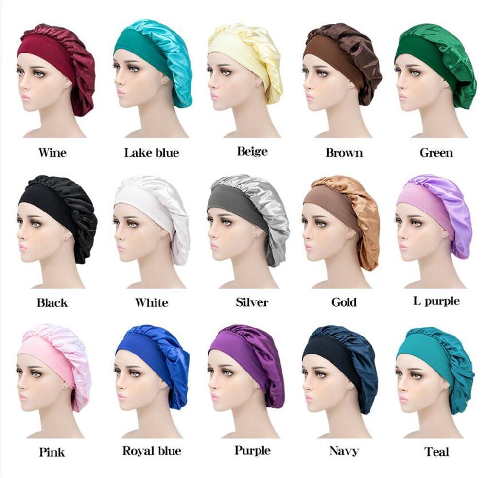 Новый дом Спящий Hat Night Sleep Cap Уход за волосами Bonnet полуночников Для женщин Мужские шапочки для душа
