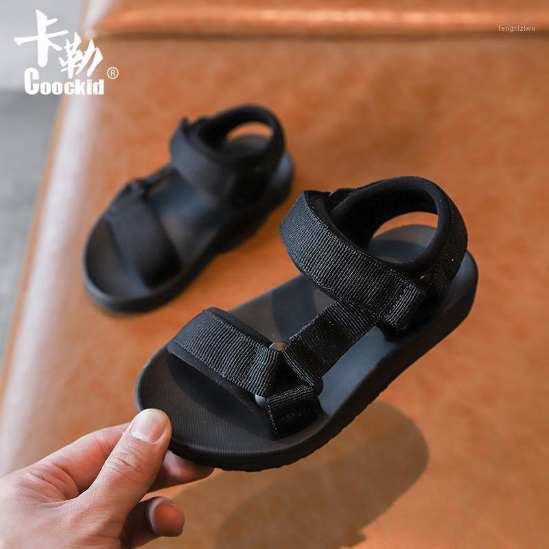 2020 Moda Nova Criança Do Bebê Sapatos Simples Aberto Toe Crianças Sandálias Meninas Meninos Grandes Crianças Soft Beach Shoes 1 - 12 anos1
