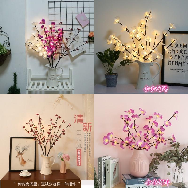 LED Indoor Decorar Estatuetas Lâmpada de Árvore Estudo da Família Quarto Cereja Luzes Coloridas Práticas Lâmpadas Decorativas 11 58HH J3