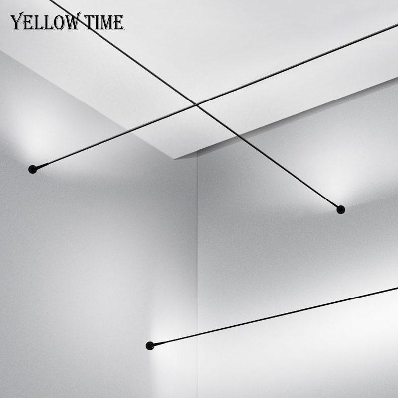 Lampada da parete di scambio minimalista Modern Led Strip Hanging Light Della Lampada Della Lampada Decorativa Della Lampada da interno Sfondo Parete Piano comodino