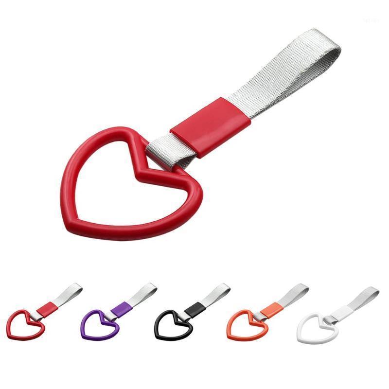 Pull-ring bumper alça de alça para jdm tsurikawa anel carro traseiro advertir loop laço chaveiro carro de forma interior pull anel keyring1
