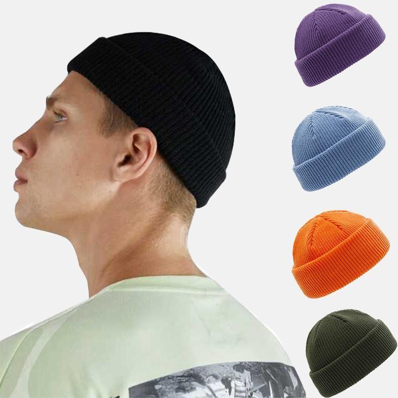 Swak зима теплые шапочки женские шерстяные вязаные шапочки черепные четки хеп хмель мужская шапка взрослый случайные короткие нить упругие унисекс шляпы
