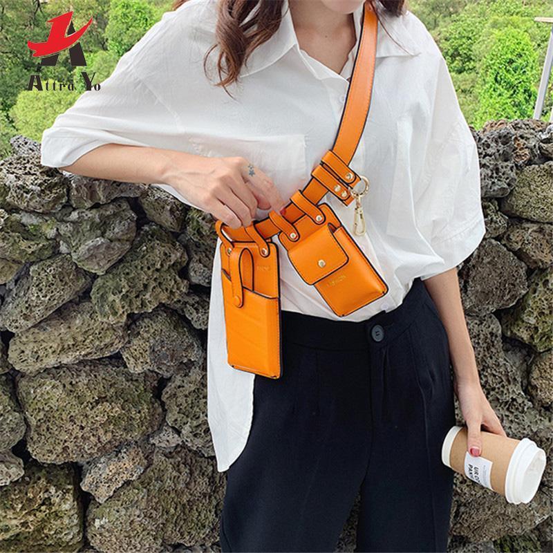 Attra-Yo Marsupio modo delle donne di sacchetto della vita della cinghia di Crossbody del torace sacchetti della ragazza pacchetto di Fanny Piccolo Telefono Confezione Pack tracolla PU