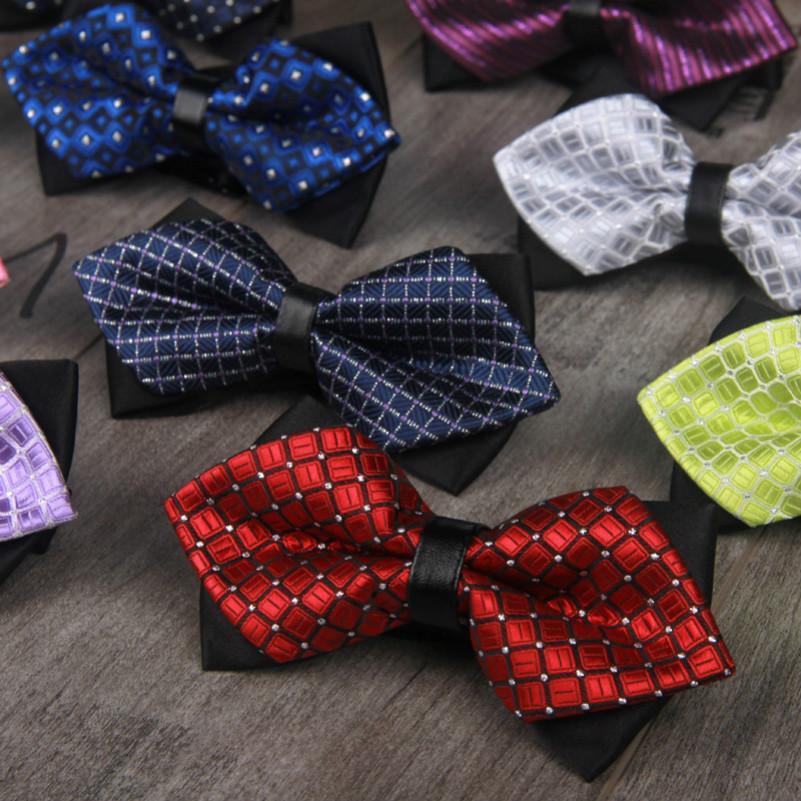 Elegante Einstellbare Fliege Plaid-Muster Business-Anzug Hemd Fliege für Männer Verpflichtungs-Hochzeit Krawatten kleidet Art und Weise wird und sandige neue