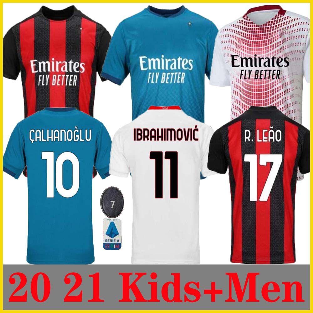 2020 20 21 AC Milan Soccer Jersey 2020 2021 IBRAHIMOVIC ...