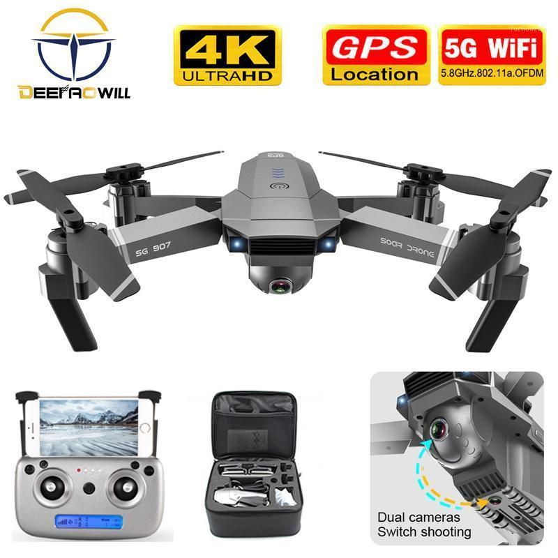 Drone SG907 GPS dron camera HD 4k 1080P 5G WIFI dual camera electronic anti-shake character follow quadcopter drones with1