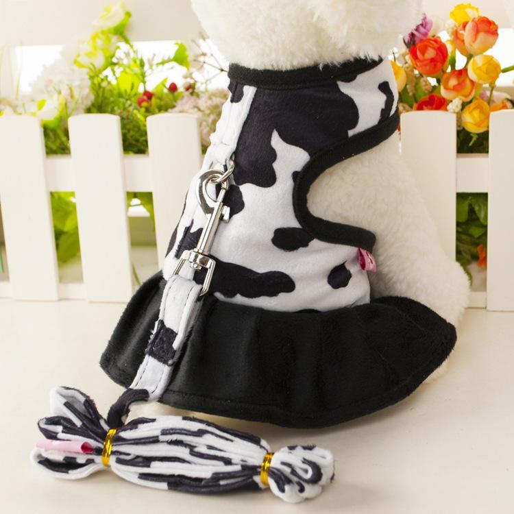 Yeni Pet Köpek Göğüs Geri Çekiş Süt Set Sığır Traksiyon Köpek Göğüs Geri Giyim Sevimli Göğüs Geri Çekiş Y1126