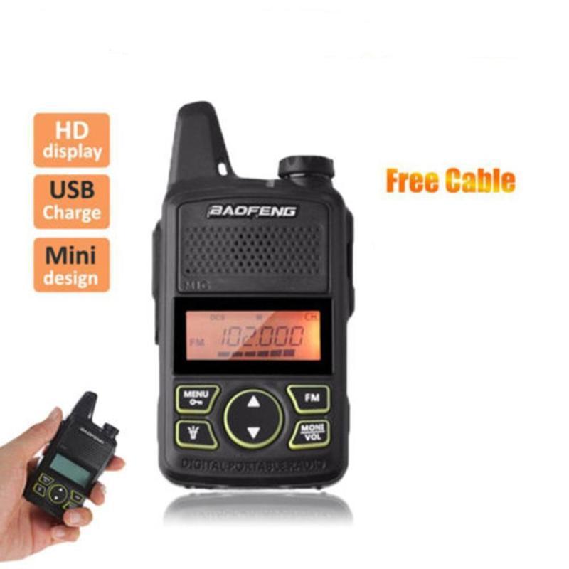 BF-T1 Mini Walkie Talkie Портативный Two Way Радио Портативный радиоприемник FM Функция Ручной приемопередатчик