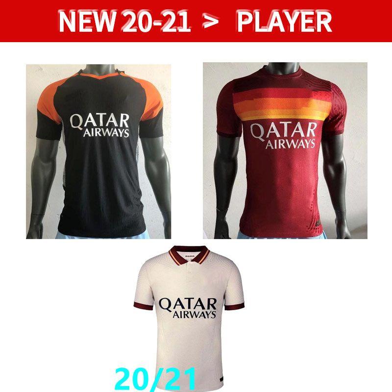 Spielerversion Dzeko Perotti Pastore Zaniolo Fussball Jersey ROEM 2020 2021 Totti Jerseys 20 21 Football Kit Shirt als MAILTOT DE FOOT