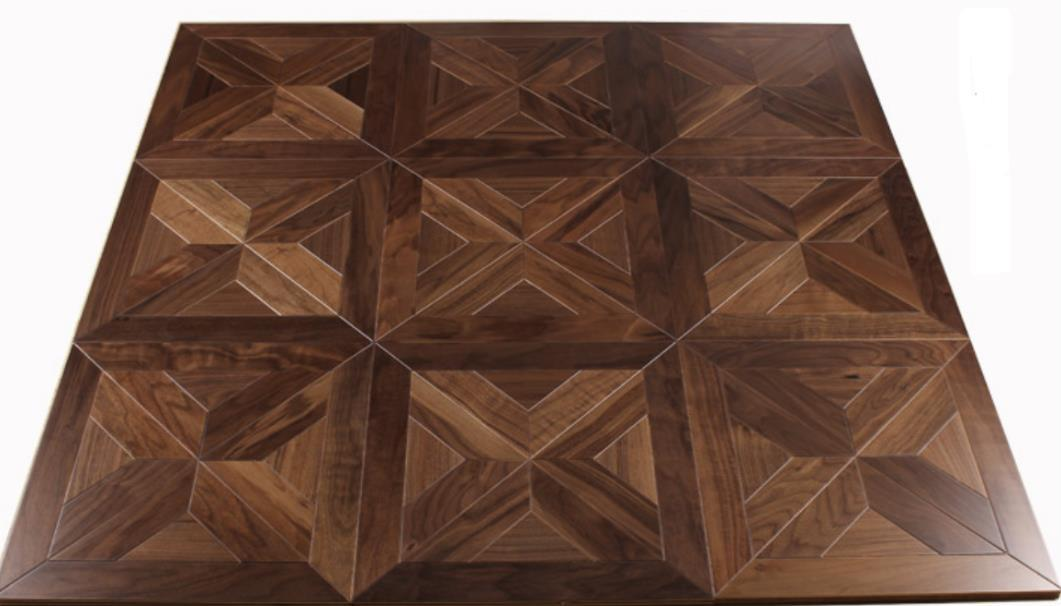 Black Walnut flooring parquet tile furniture PVC Backdrop Bedroom Walls Living room TV Wooden ceiling siding Small box floor Mosaic timber marquetry