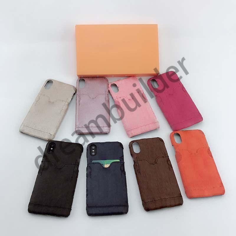 Casi del telefono della moda per iPhone 12 Pro Max 11 Pro Max XR XS Max 7/8 Plus PU Shell del telefono in pelle per Samsung S8 9 S10 Plus Nota 8 9 10