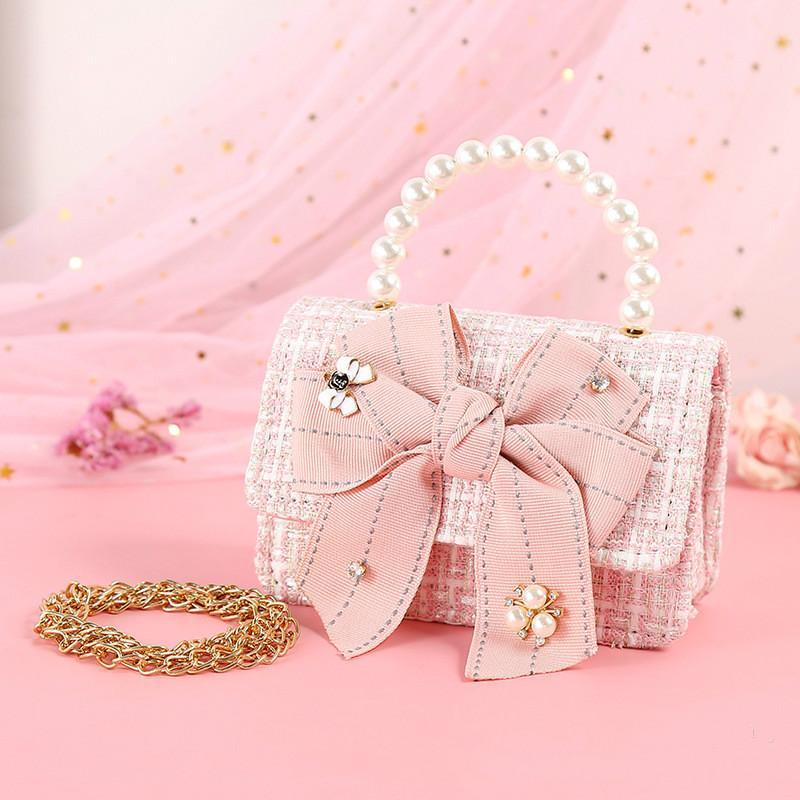 Diseñador coreano para niños monederos y bolsos Mini Crossbody 2020 Girl Party linda princesa Girls pequeño bebé bolsa de la moneda del monedero de mano Bolsas de Regalo