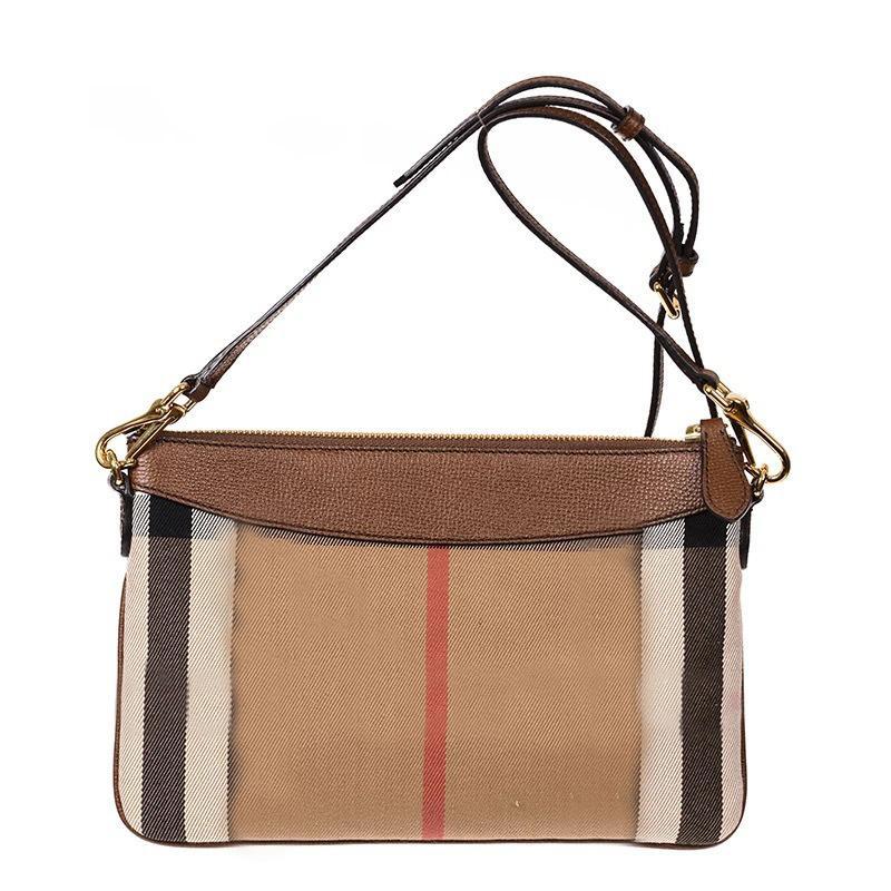 Tenendo una borsa da donna Classic Canvas plaid Borsa obliqua di una spalla colpita il colore corrispondente busta in pelle c0125