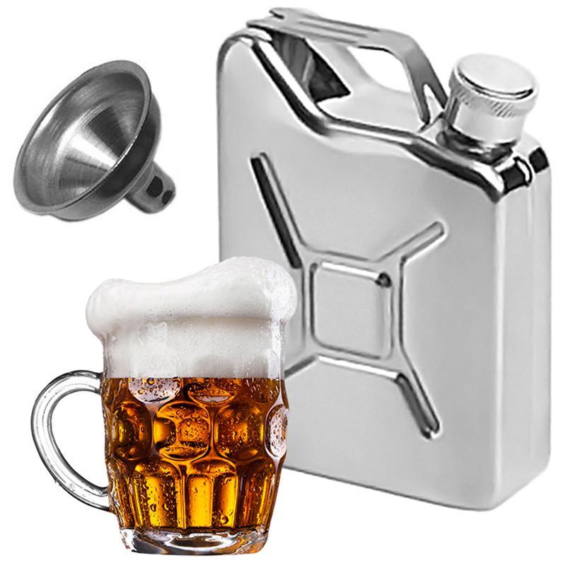 Cadeau de personnalité créative de la bouteille de whisky portable de flasques en acier inoxydable pour hommes 5Oz