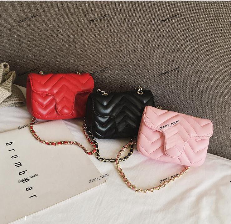 INS Baby Girls handbag PU Letter Children metal single shoulder bag Fashion Kids messenger bag Girl designer Mini bags C4230