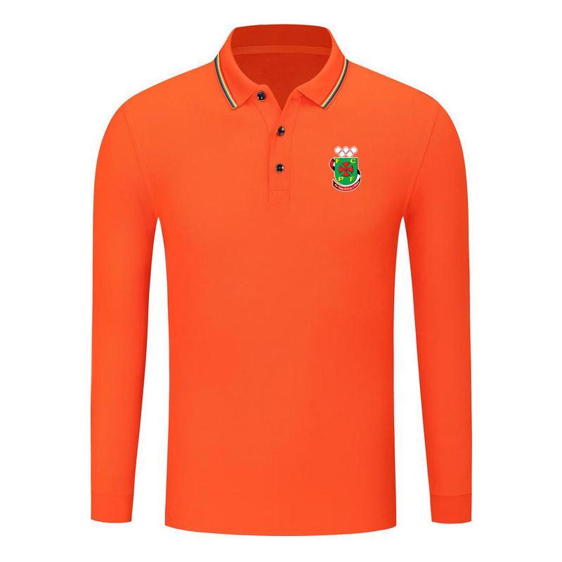 Pacos de Ferreira caída nueva camisa de manga larga de algodón cómodo golf polo manga larga moda solapa manga larga fútbol fútbol deportes camisa
