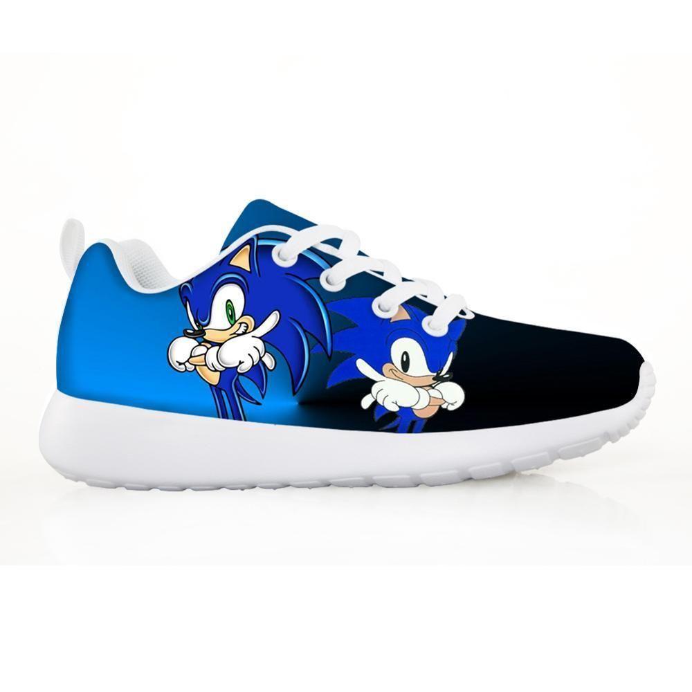 Moda Scarpe per bambini Scarpe da ginnastica per bambini Ragazzi Ragazza Bella Sonic The Hedgehog Bambini Casual Flats Breath Lace-up Shoes LJ201203