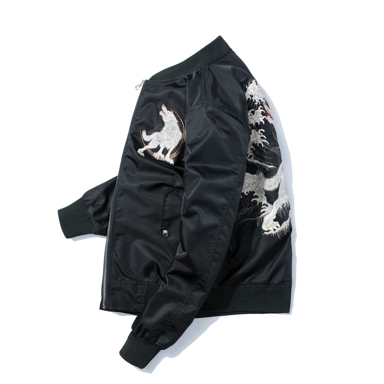 MASZRE broderie vestes Bomber hommes plus de vêtements de taille streetwear tendances Mode garçons automne hiver épais uniformes de baseball