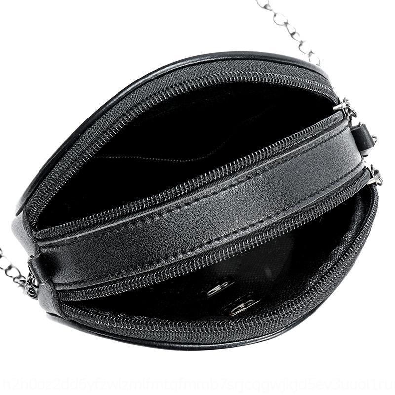 cadeia de treliça presente diamante redondo pequeno ombro saco bagbag CG carta duplo zíper Único Shoulder Mensageiro u7ZOb