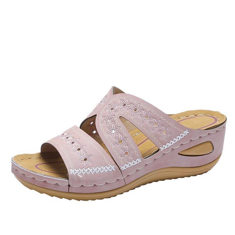 Dropshipping Damen Sommer Hausschuhe Frauen Schuhe Plattform Rutschen Wedges 2021 Damen Casual Weiche Komfortable Sandalen im Freien