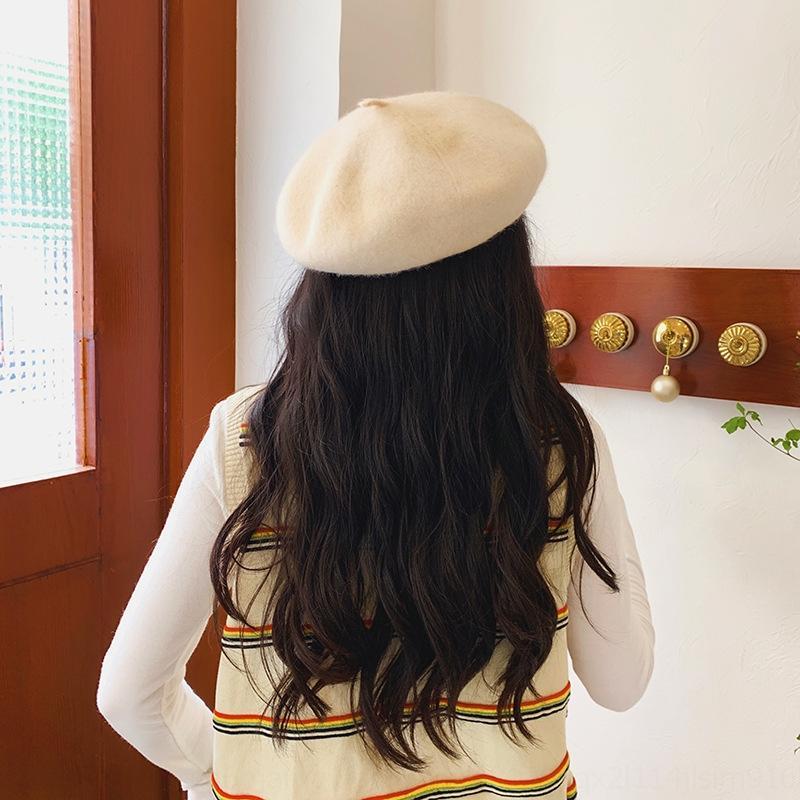 Gmbgt nova boina no outono e lã hatstudent arte pintor do pintor inverno boina inverno chapéu hatkorean lã abóbora chapéu