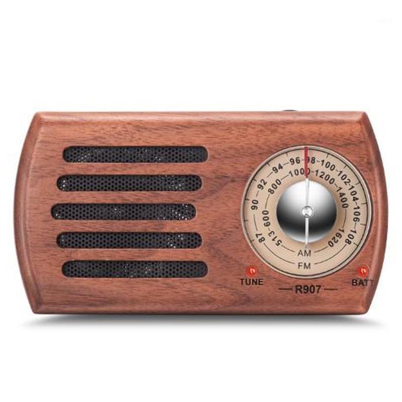 Radio portable AM / FM, radio de poche en bois rétro avec meilleure réception, prise casque, pile exploitée (non comprise) 1