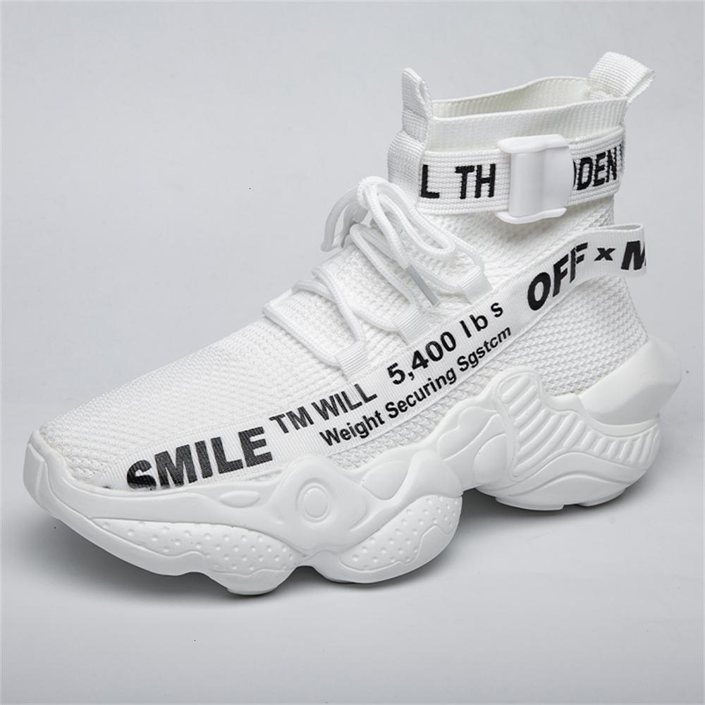2020 zapatillas de deporte de los hombres de la moda blanca zapatos de correr negro para hombres hombre cómodo caminando atlético transpirable malla mans calzado de jogging