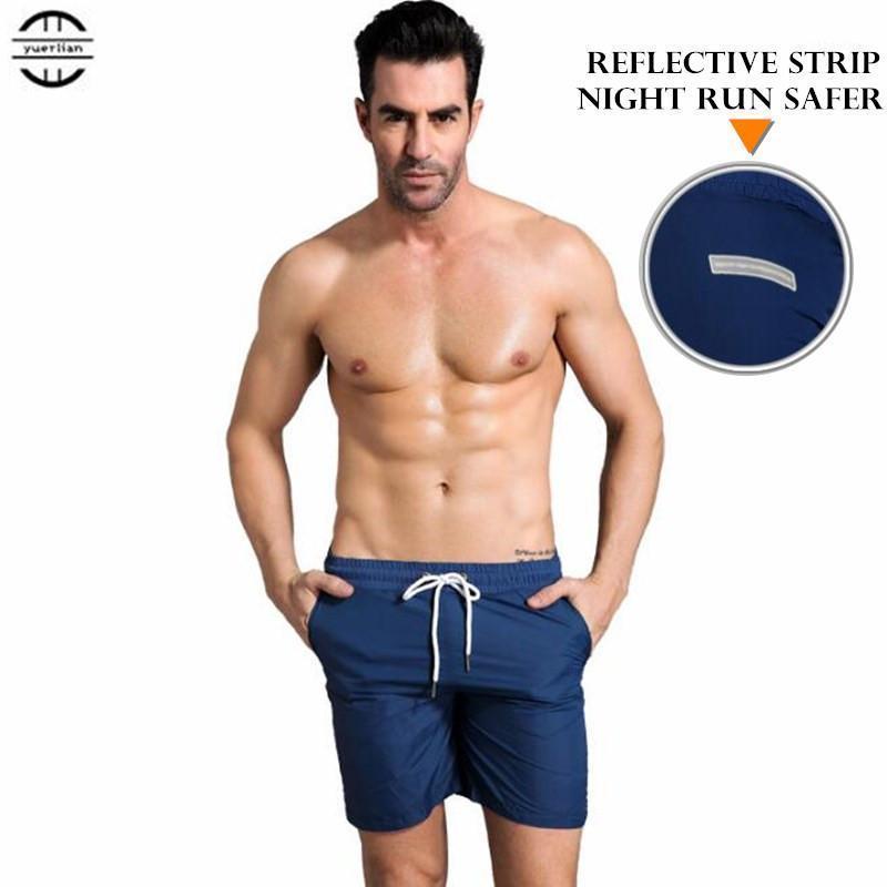Homens Exercício Fitness Holiday Casual Shorts Quick-Dry Wicking Wicking Ultra-fino Luz Solta Sólida Board Beach Shorts Verão Sweatpants1