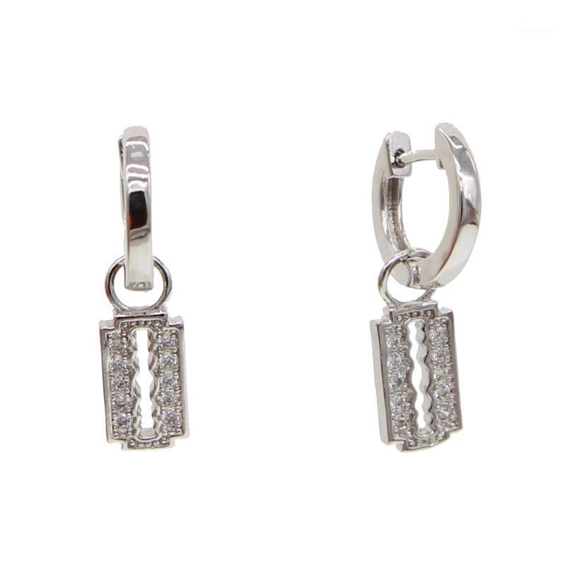Серьги с чернильной люстрой дизайна Серьги из полированной серебряной цветовой отделки Pewter1