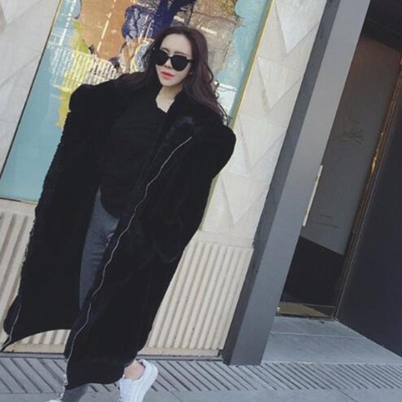 Женщины искусственного мех Пальто осень и зима пальто дама 2020 с капюшоном Твердых Длинной Женской Vintage Куртка Плюшевой Шинель Chaqueta Mujer