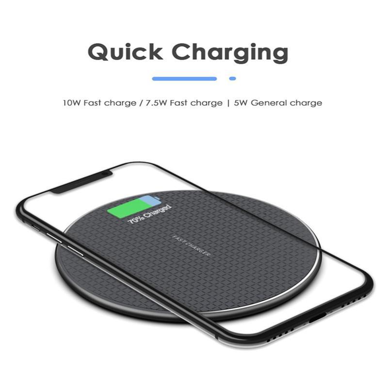 Chargeur sans fil rapide 10W pour iPhone 12 Mini 11 PRO XS MAX XR USB QI Tapis de charge pour Samsung S20 S10 S9 Bord Note 10 avec boîte de vente au détail