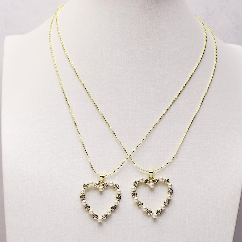 10 Strands Beads Heart Pendant Necklace Jewelry Necklace Gift For Lady Heart Pendant Gift For women 9781
