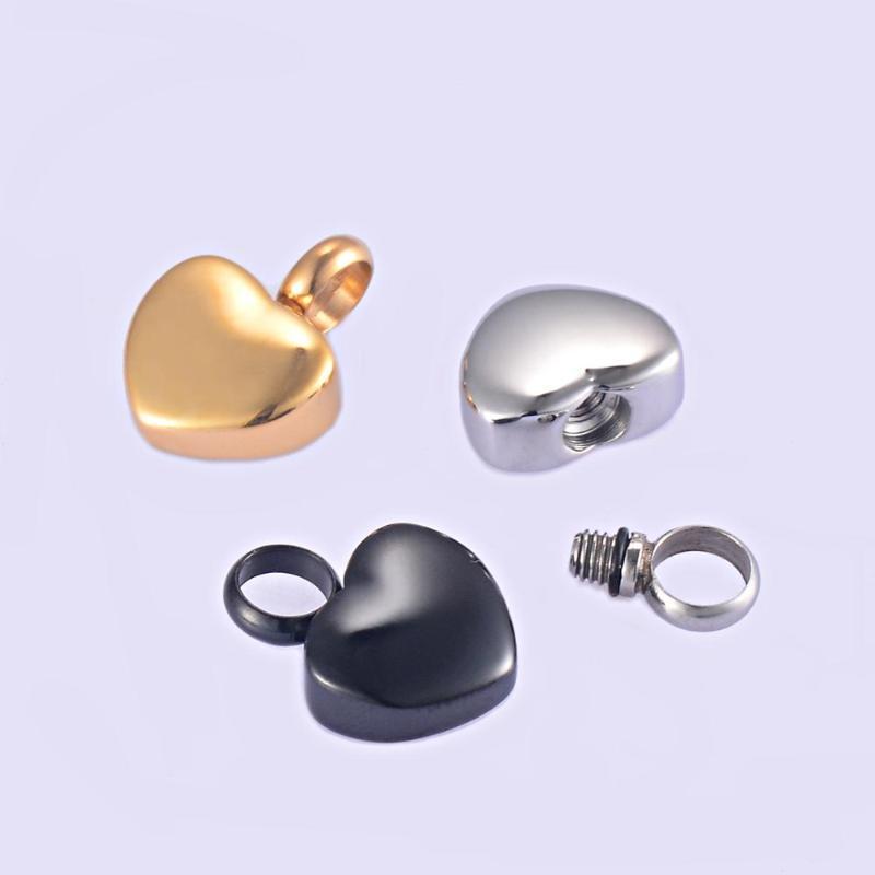 Paslanmaz Çelik Küçük Kalp Madalyon Kremasyon Kalp Charms Anıt Külleri Urn Kolye / Bilezik Takı Koku Keepsake Kolye