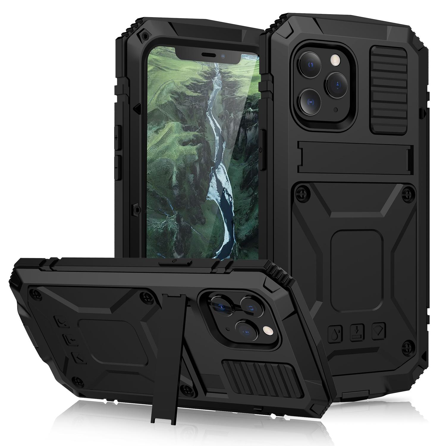 Heavy Duty Protection Phone Cases for iphone 12 pro max 11 XS shock Resistant Waterproof Dusty-proof Full Cover with Stand