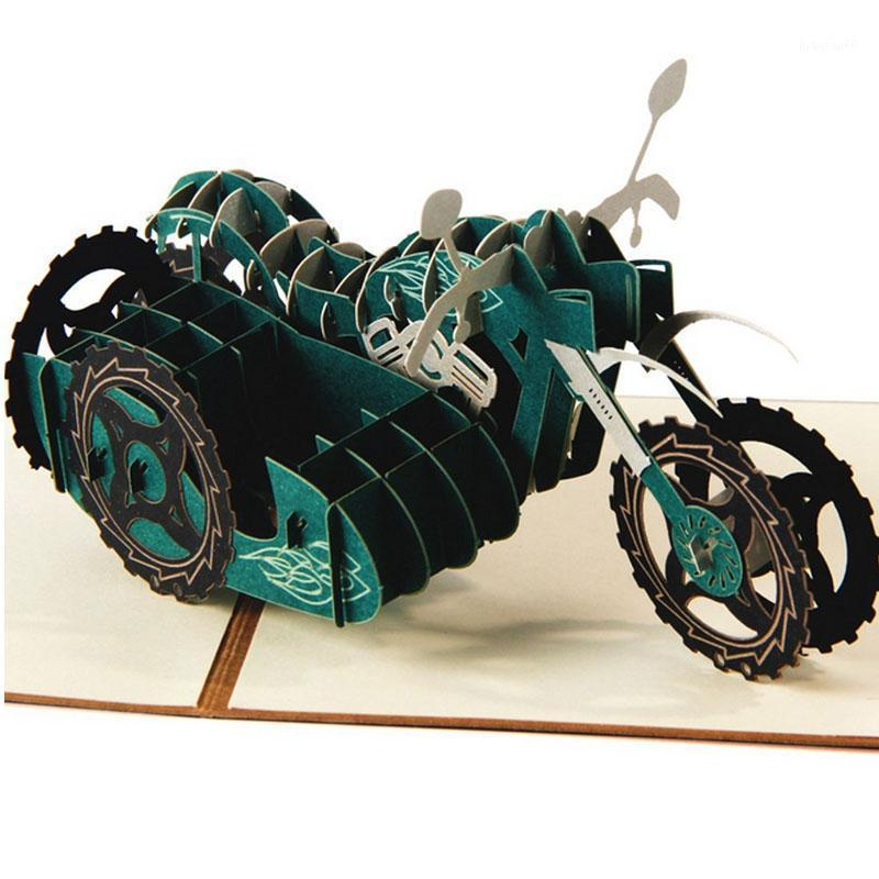 3D до поздравительных открыток мотоцикл день рождения пасхи Хэллоуин день отца открытка подарок1