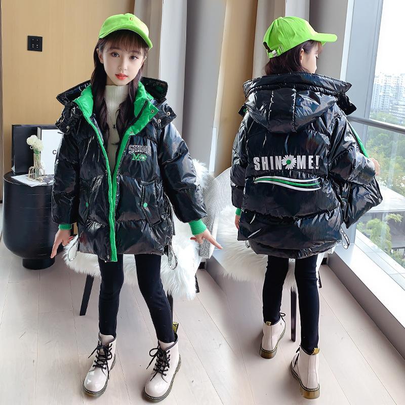roupas de inverno pesado casaco de 2020 nova versão coreana estilo estrangeira da menina das crianças de e para baixo de algodão acolchoado meados jaqueta