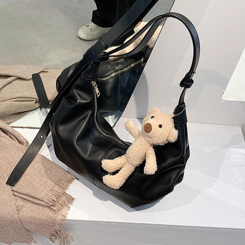 Morbido per le nuove borse in pelle Trending Donne 2021 Hobo spalla Brand Bed Bag Borse Borse Luxury PU Crossbody Borsa Borsa Borsa Shopper Ladies Cmalx PDAB