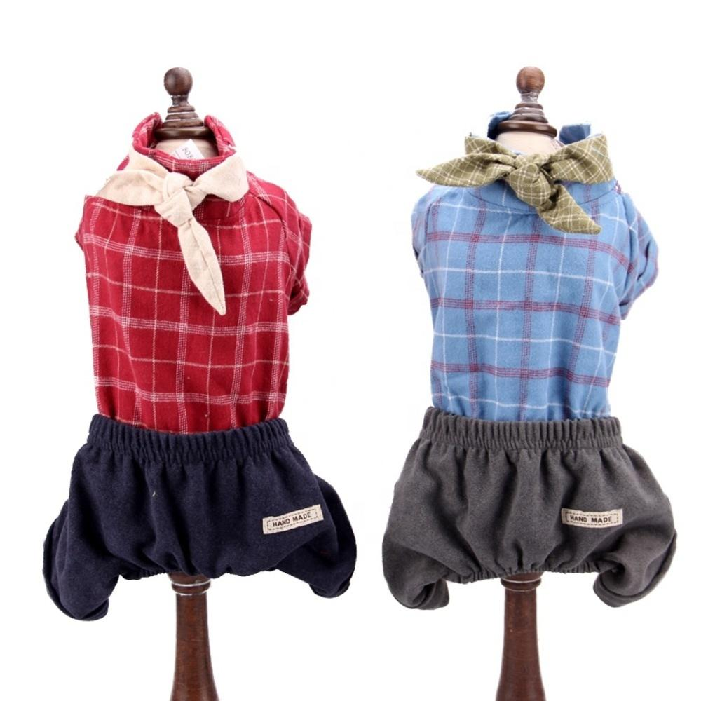 FunnyDogClothes Pack of 2 Dog Skirt Female Diapers with Suspenders for Small and Large Pet 100/% Cotton Plaid Tartan Blue Red