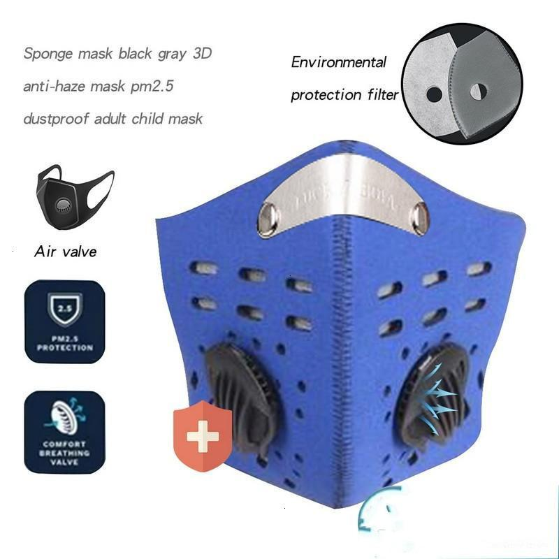 Exhale Two Filter Half Carbon Cycling PM2.5 Valves Camouflage Dustproof Anti Pollution Smog Face Sports Shield Mask FY9